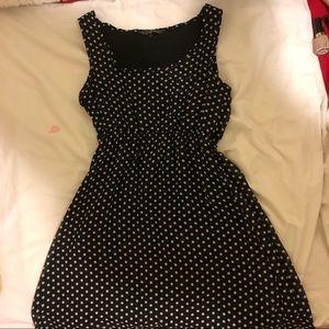 Cute black and white polka dot dress!